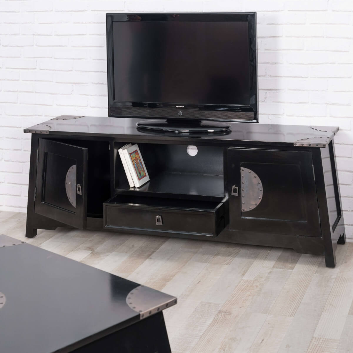 meuble tv bois massif acajou solutions pour la. Black Bedroom Furniture Sets. Home Design Ideas