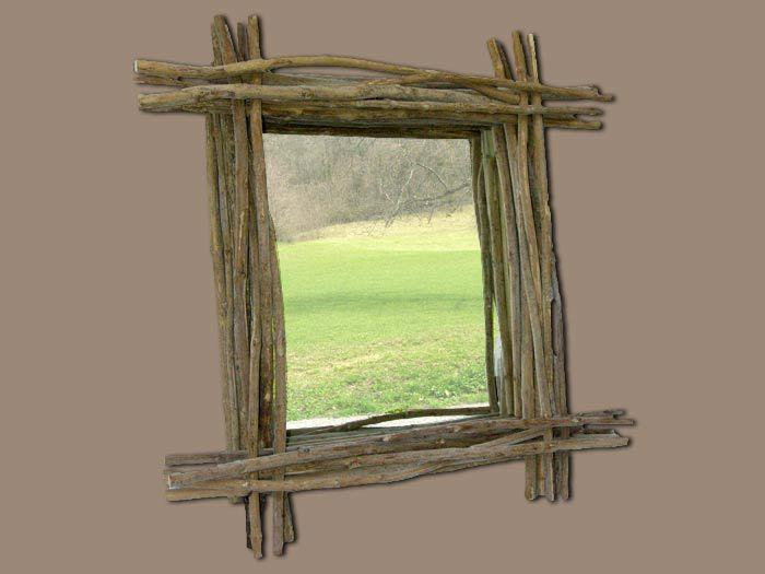 Meubles de salle de bain en teck d co maison jardin for Miroir en bois flotte