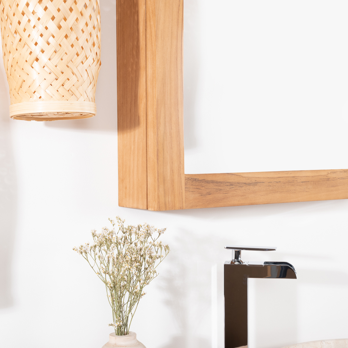 Armoire de toilette bois for Collection miroir