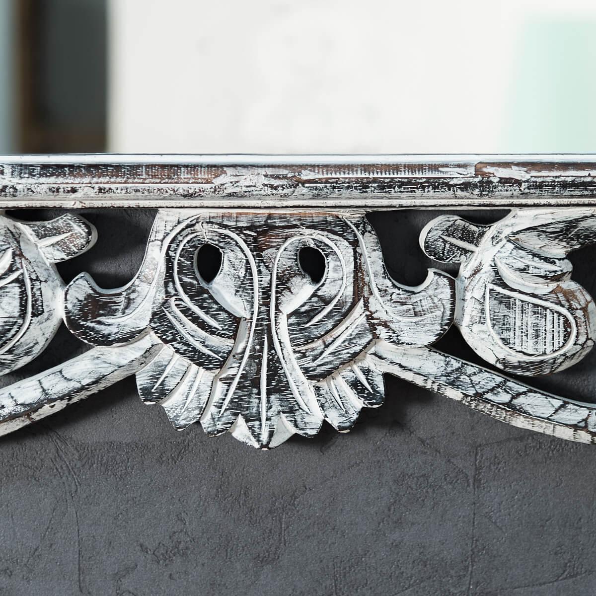 Miroir cordoue en bois patin c rus 140 x 80 for Miroir 140 x 60