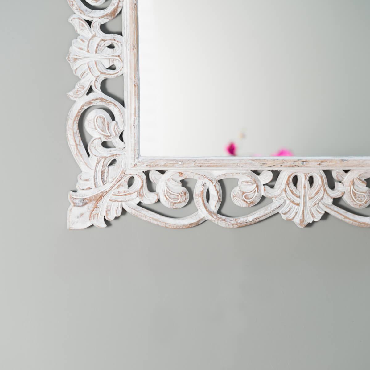 Miroir de d coration en bois massif cordoue for Miroir bois ceruse