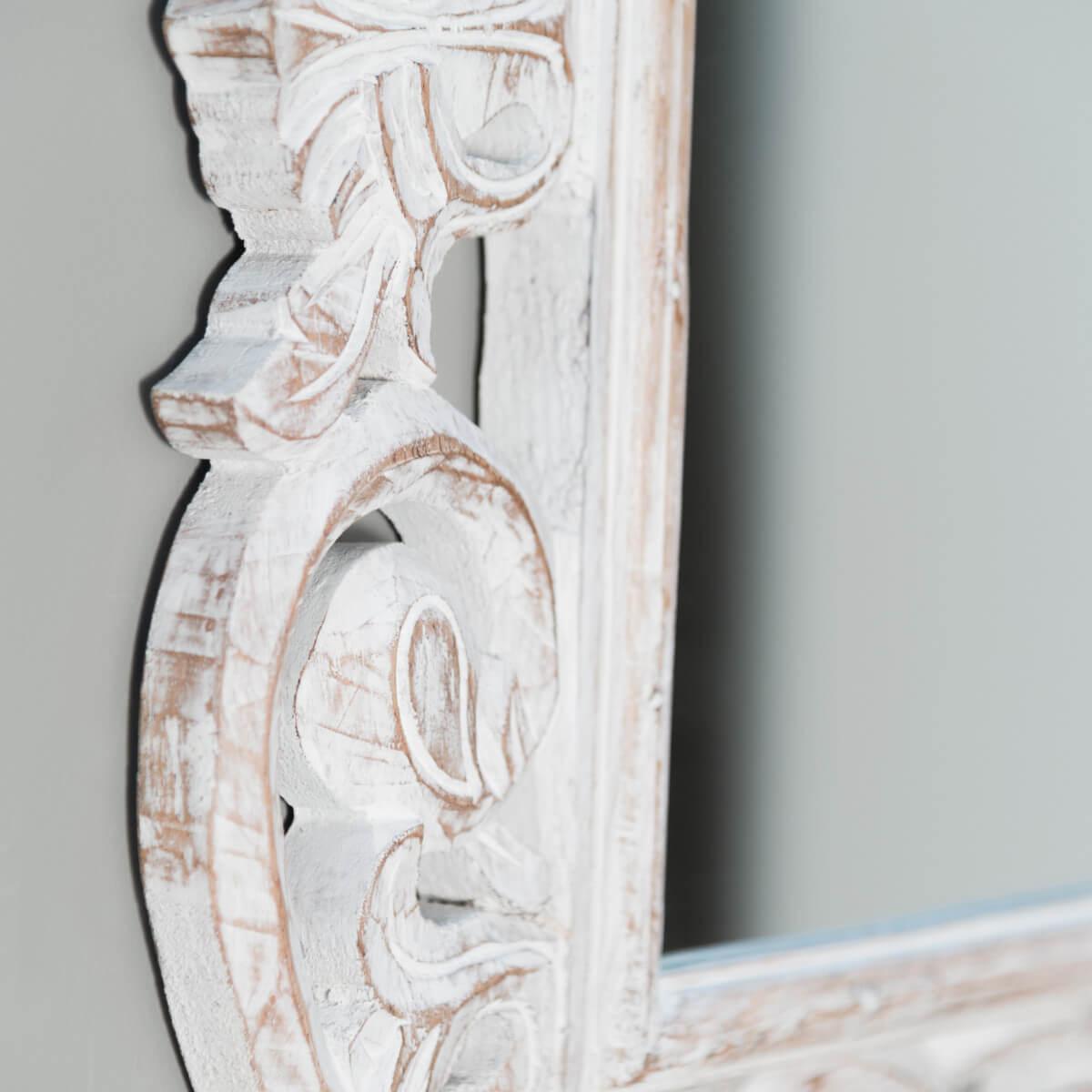 Miroir de d coration en bois massif cordoue for Question miroir