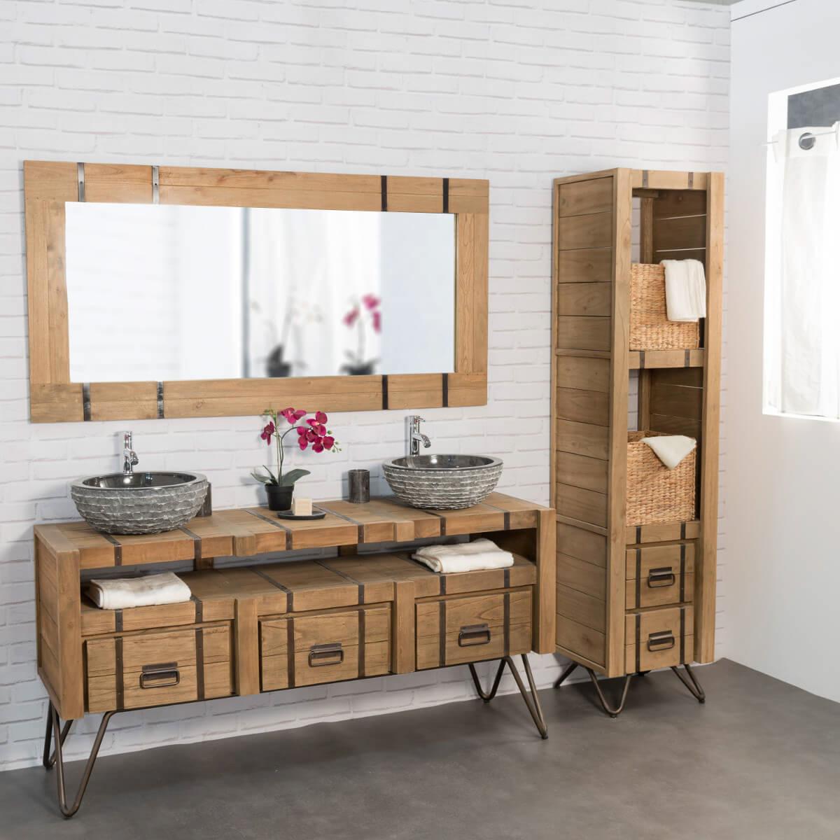 meuble salle de bain bois avis