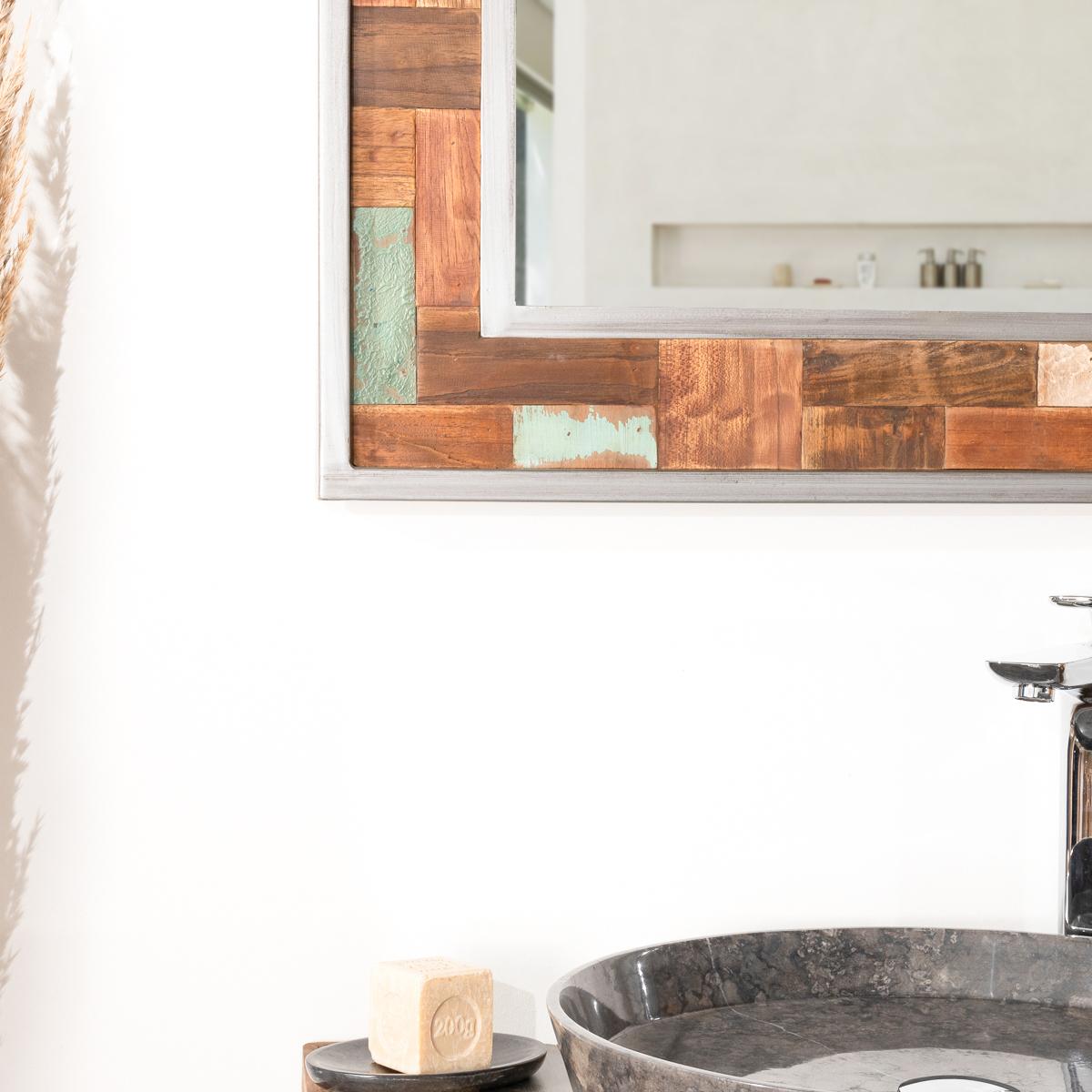 Miroir salle de bain teck for Miroir salle de bain teck