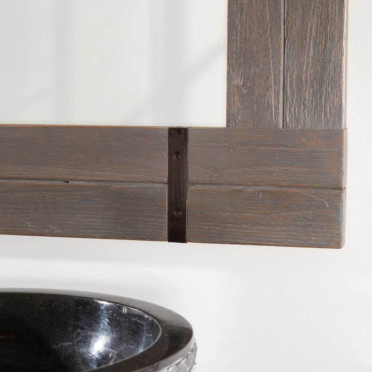 Miroir de salle de bain loft 60x80 gris for Miroir salle de bain 60 x 80