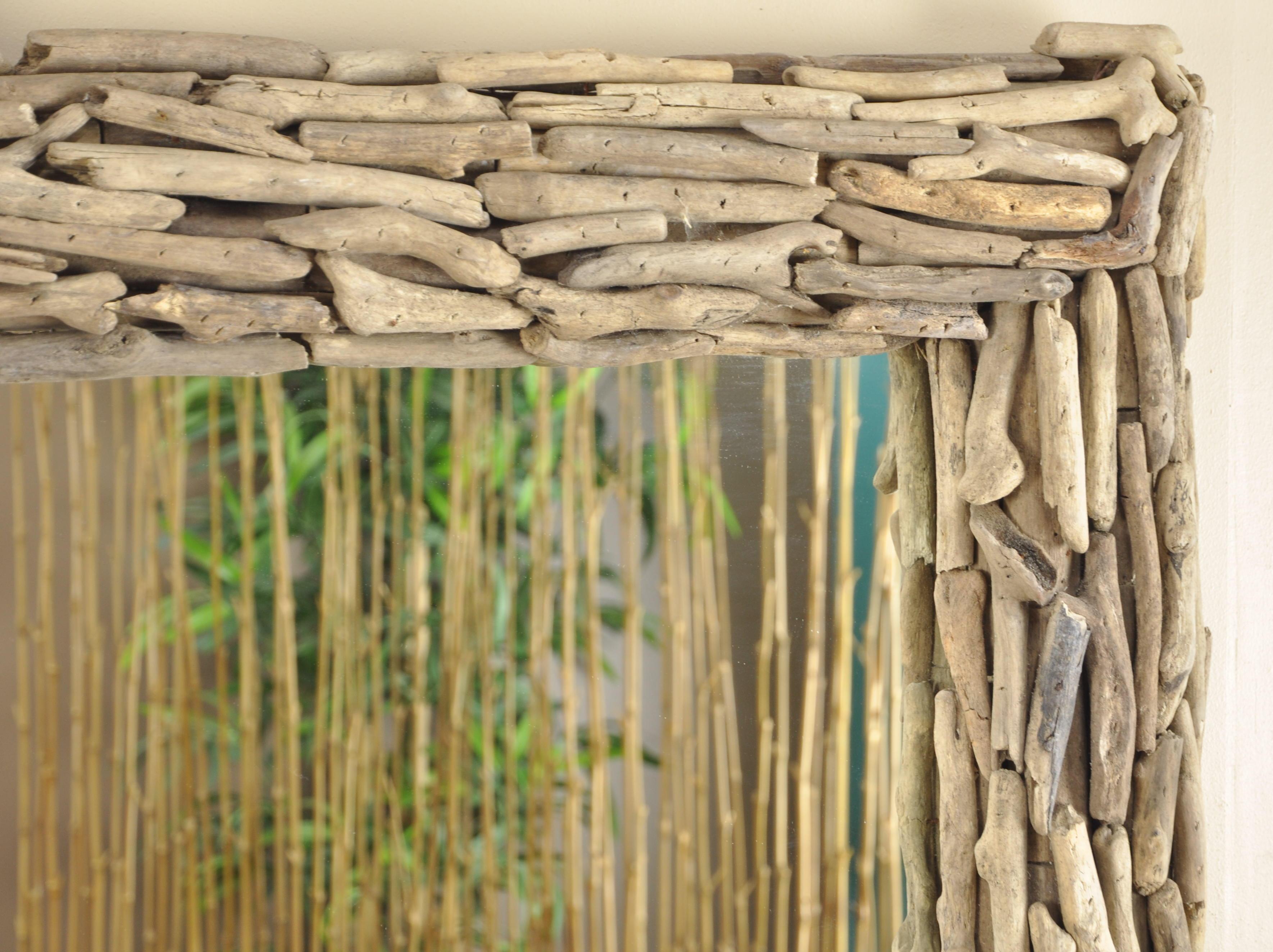 Miroir deauville en bois flott 1m x 70 cm for Bois flotte techniques