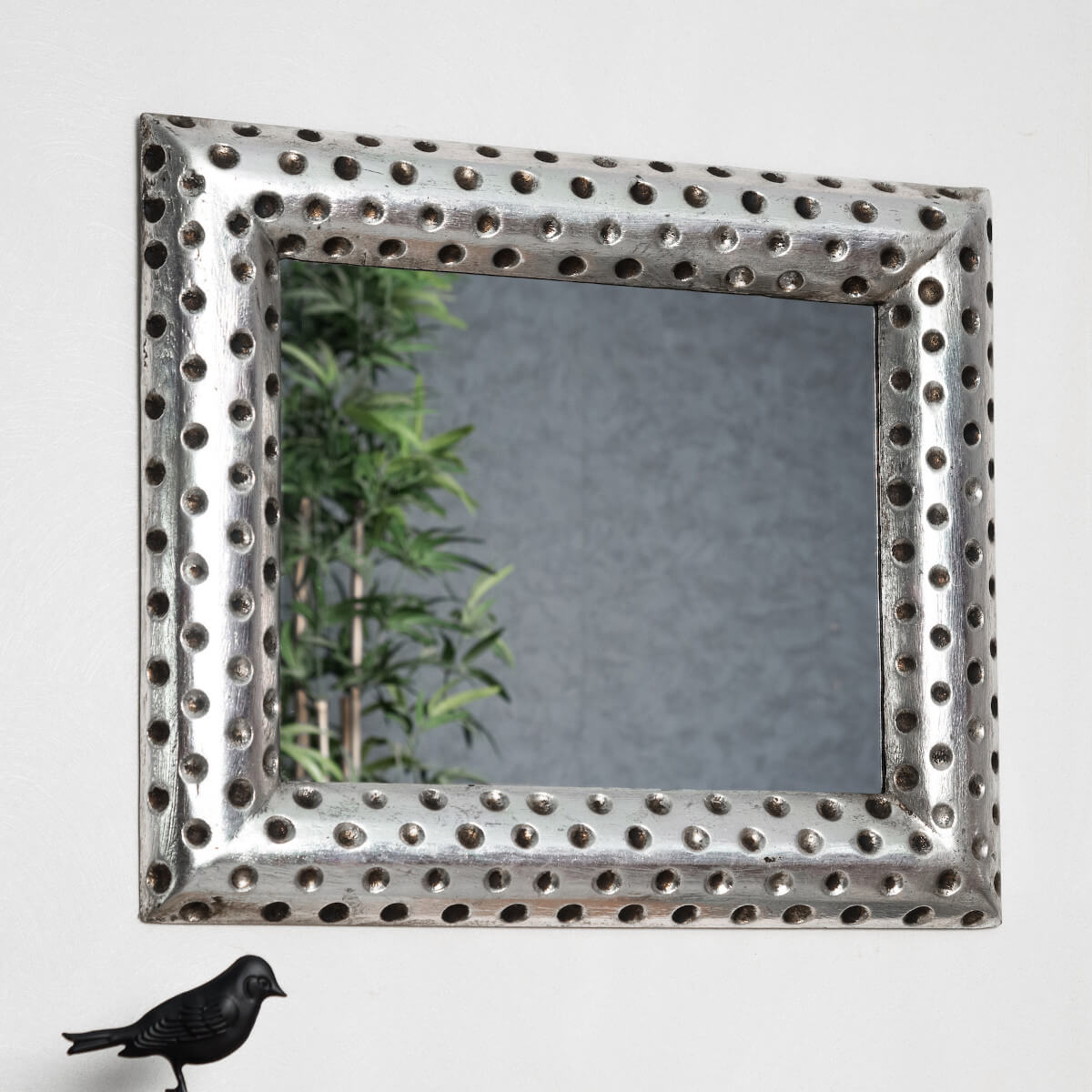 Miroir de d coration en bois massif pampelune for Miroir 150 x 60