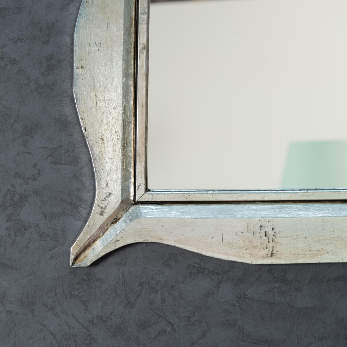 Neuf miroir moderne en bois patin argent 70 x 100cm ebay for Effet miroir psychologie definition