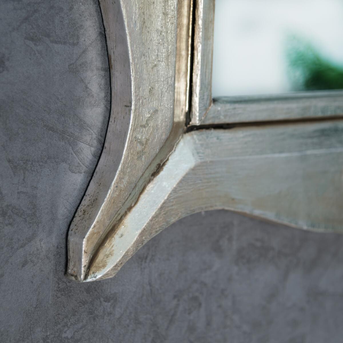 Miroir de d coration en bois massif moderne for Miroir bois 50 x 70