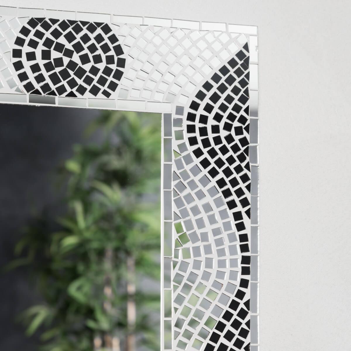 Neuf miroir mosaique design 40cm x 50cm salon chambre ebay for Miroir 50 40