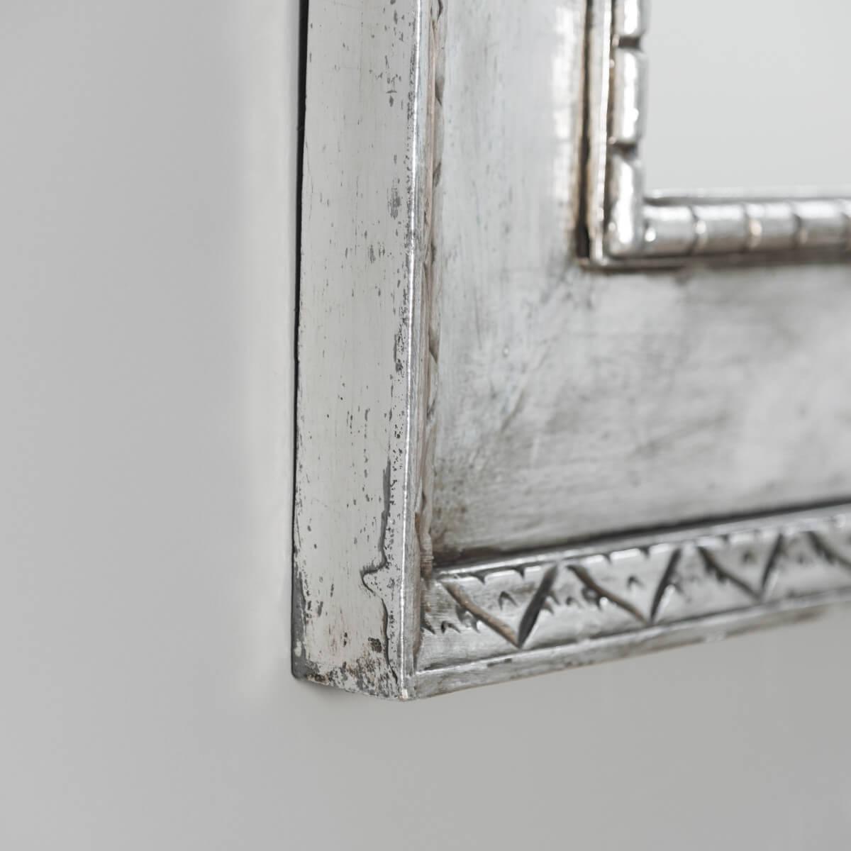 Miroir palerme en bois patin argent 140cm x 80cm for Miroir 140 x 80