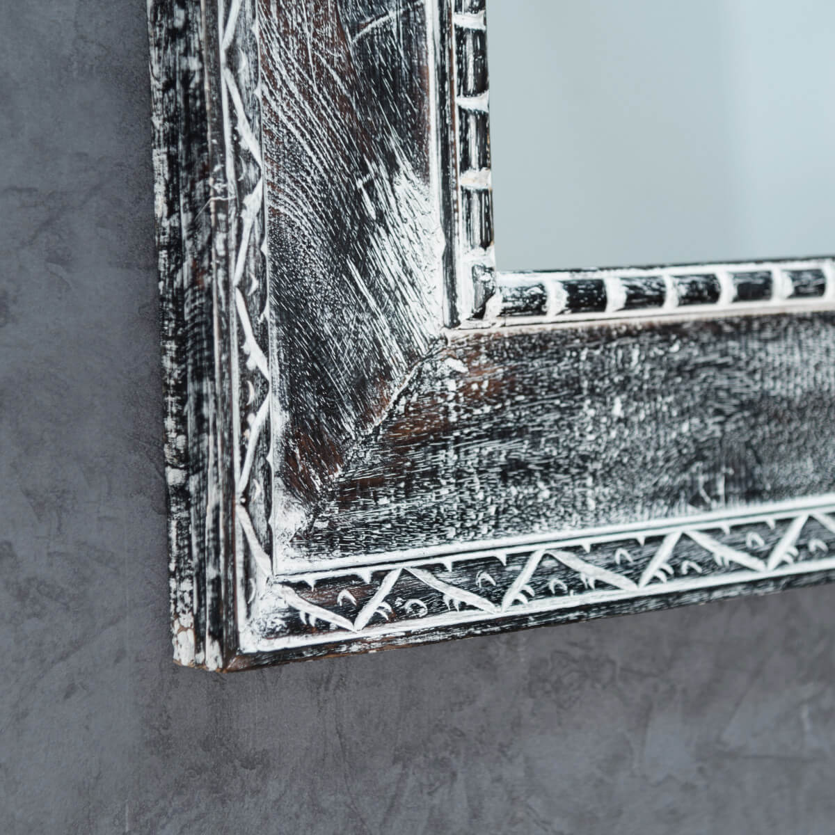 miroir palerme en bois patin gris c rus 100cm x 70cm. Black Bedroom Furniture Sets. Home Design Ideas