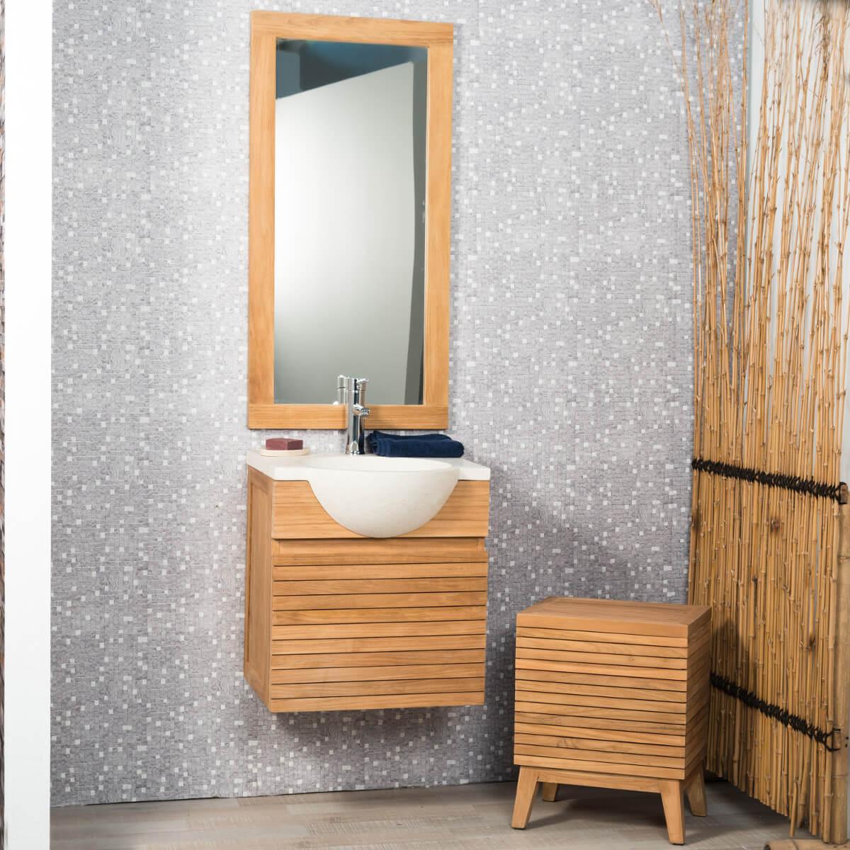 Miroir salle de bain 100x50 for Miroir salle de bain 50