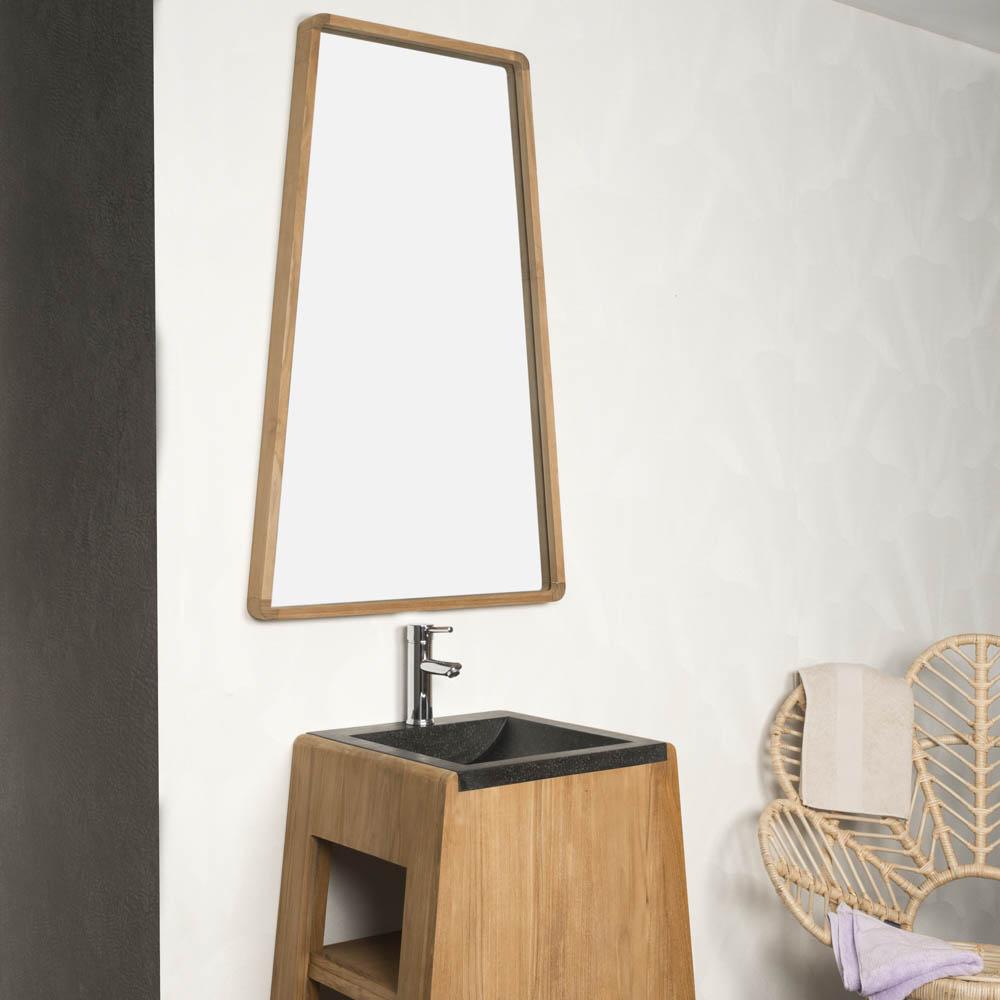 miroir en teck finest miroir en teck miroir en teck cm mrc miroir teck salle de bain leroy. Black Bedroom Furniture Sets. Home Design Ideas