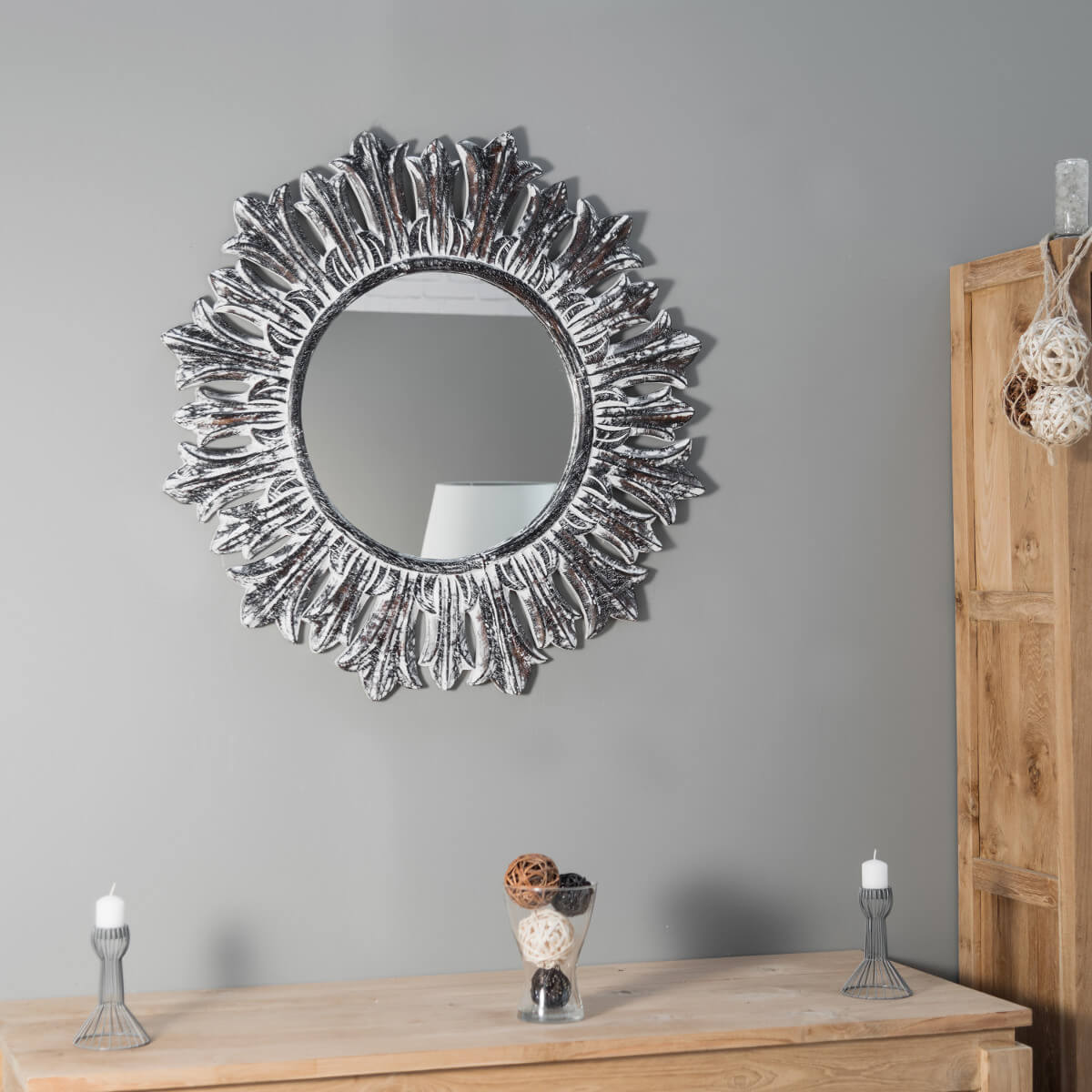 Wanda collection 468 for Miroir en bois brut