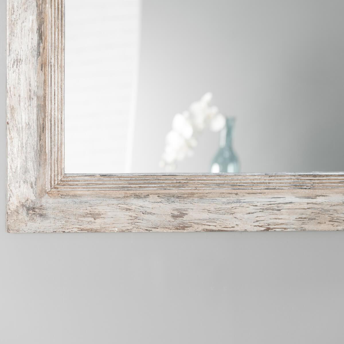 Miroir venise en bois patin 140cm x 80cm for Miroir 140 x 80