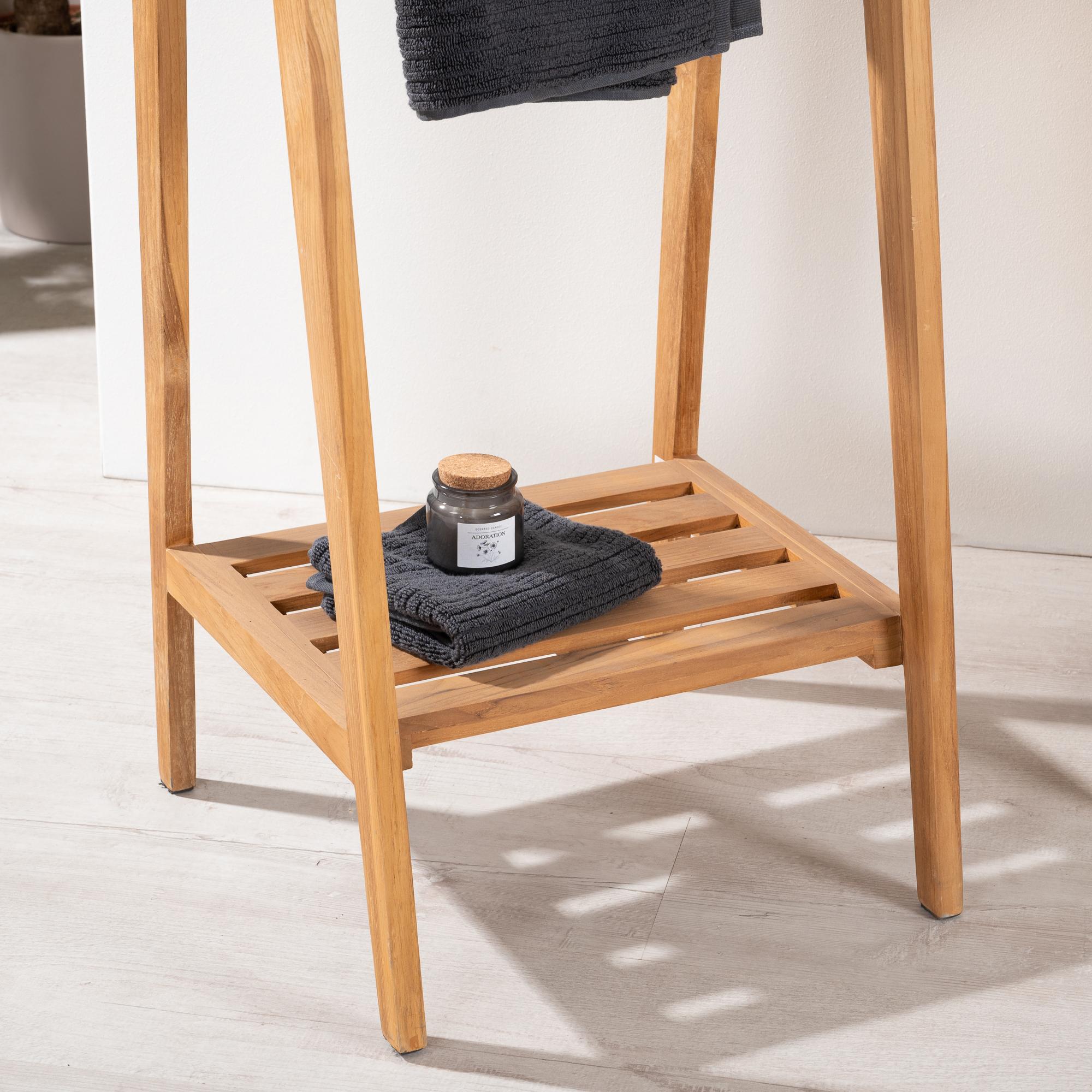 Neuf porte serviette poser en teck ebay for Porte serviette en teck