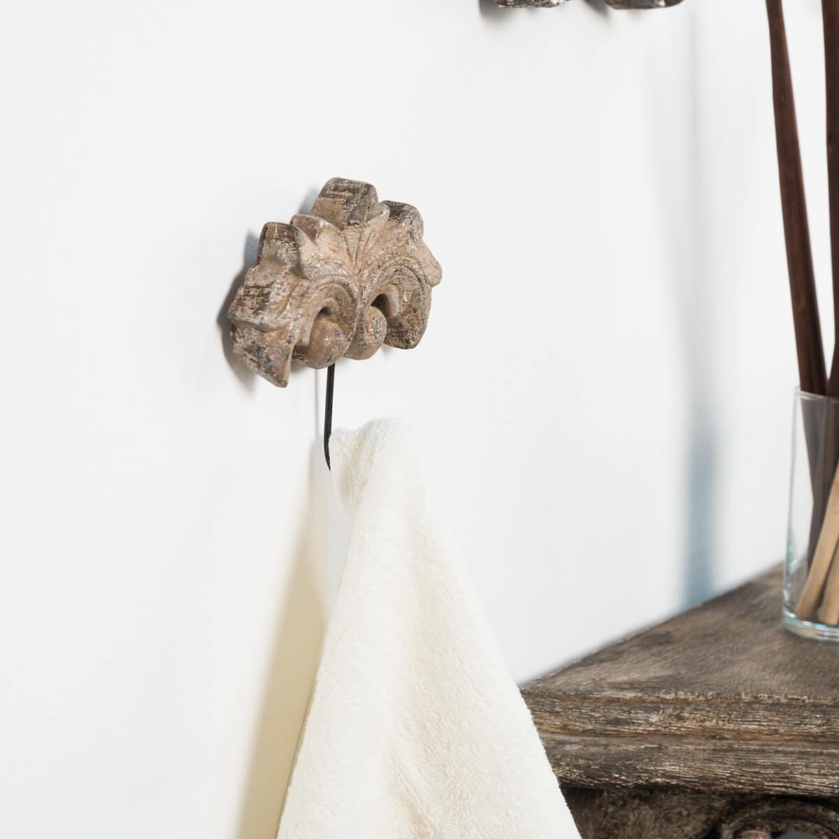 porte serviette mural crochet baroque bronze. Black Bedroom Furniture Sets. Home Design Ideas