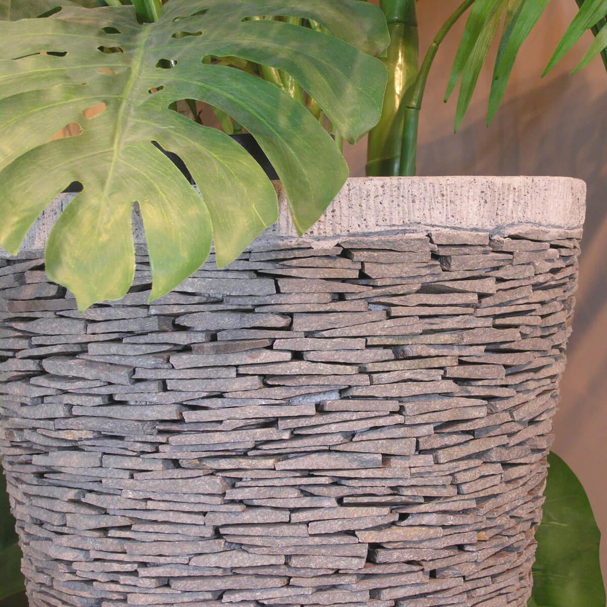 pot de jardin en ardoise conique naturel h 80 cm. Black Bedroom Furniture Sets. Home Design Ideas