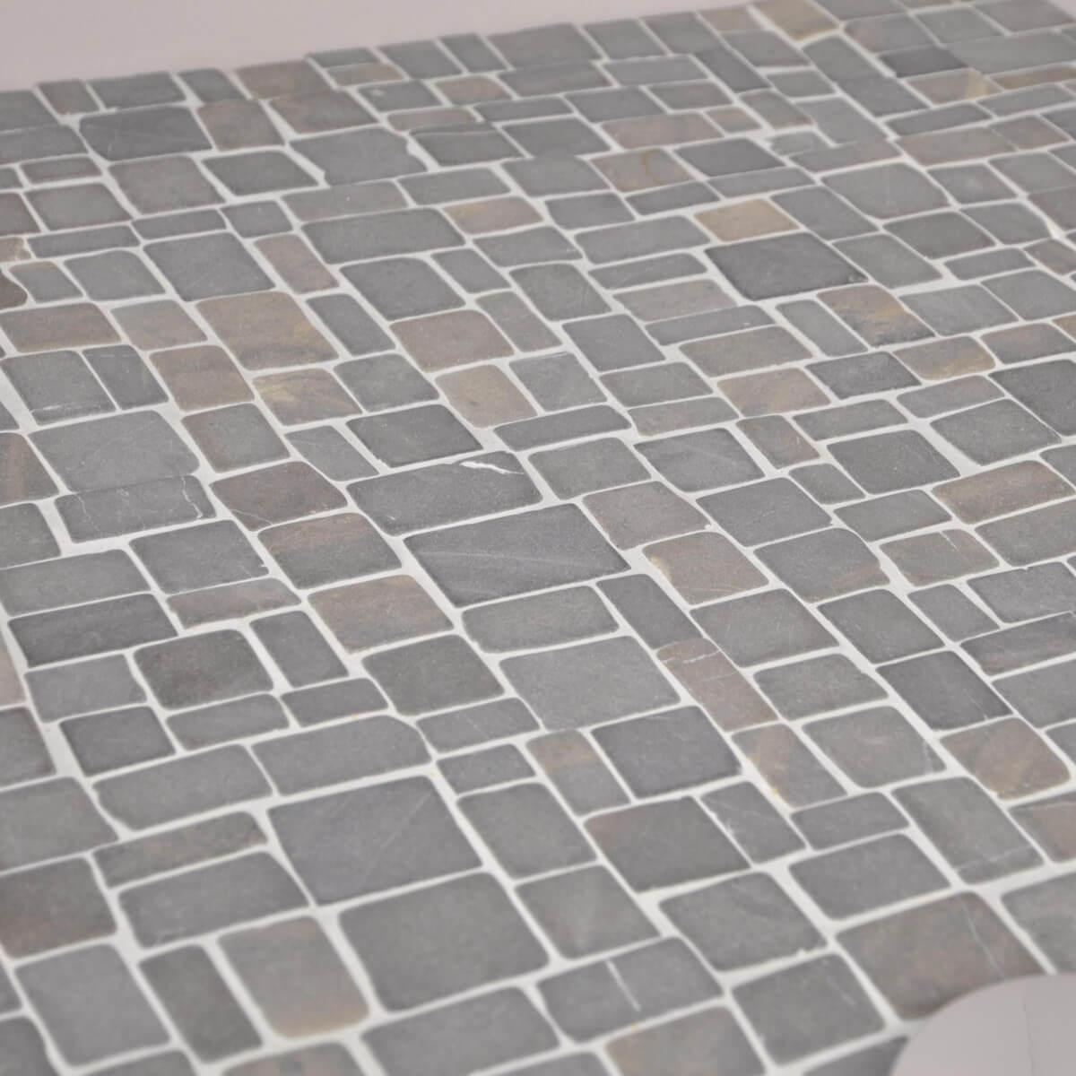 Mosaique En Marbre Gt Mosaique Carrelage Marbre Gris Astille Lame ...