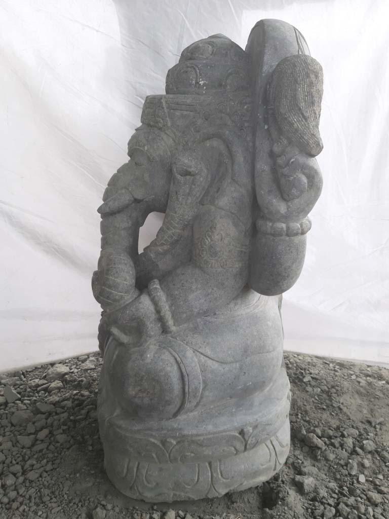 Sculpture en pierre de jardin zen ganesh 100 cm for Statue de jardin zen