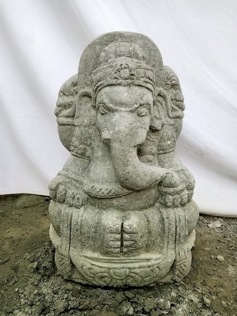 statue d 39 ext rieur en pierre volcanique ganesh 50 cm. Black Bedroom Furniture Sets. Home Design Ideas
