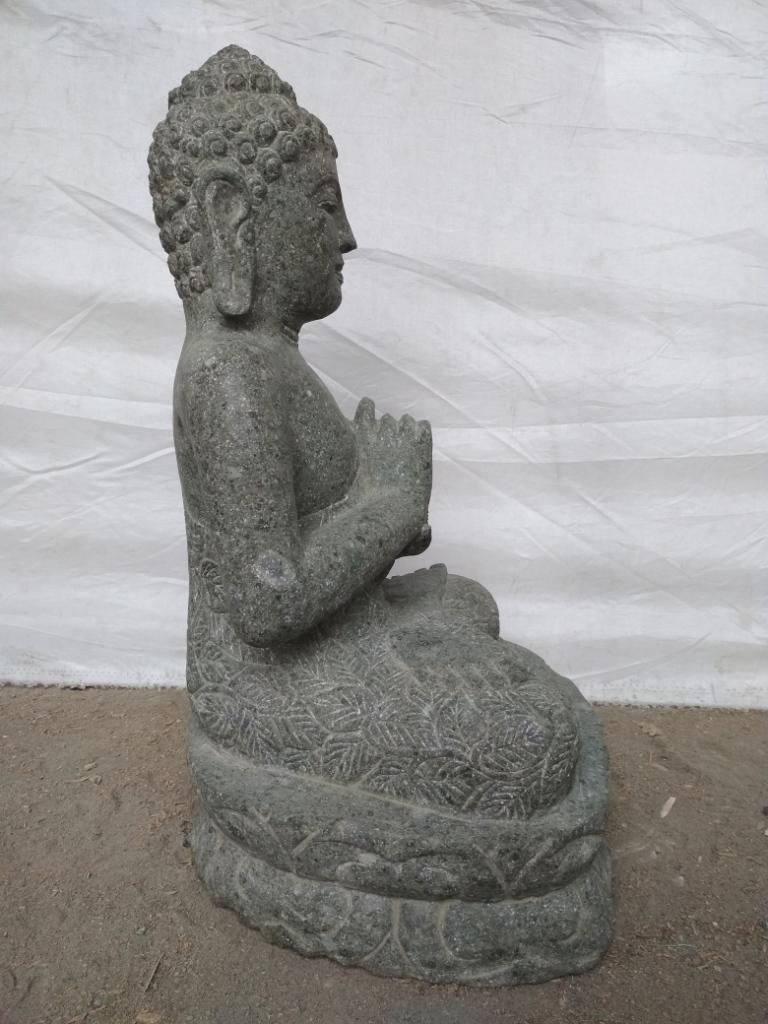 Statue de bouddha en pierre volcanique de jardin zen - Bouddha jardin zen ...