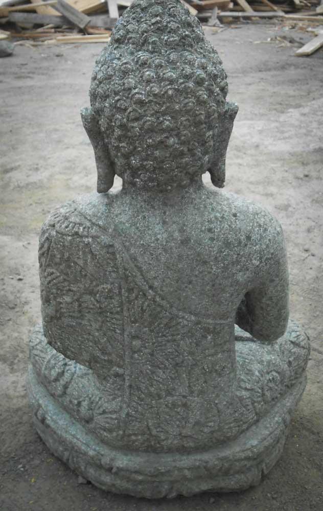 statue en pierre jardin exterieur bouddha position pri re 60 cm. Black Bedroom Furniture Sets. Home Design Ideas