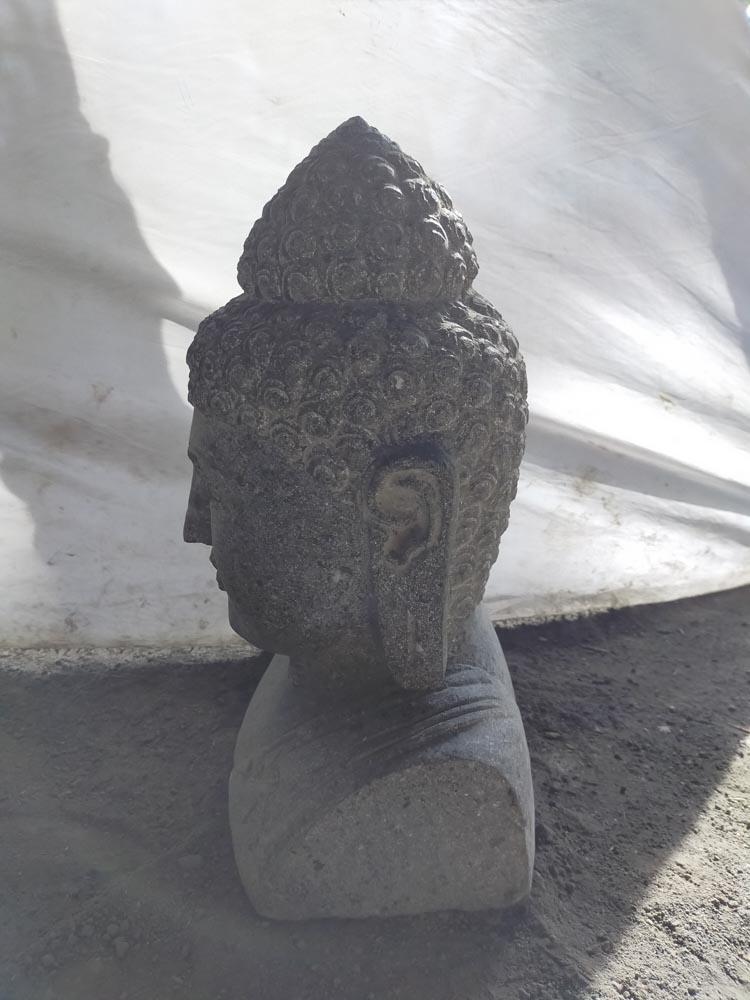 Statue jardin zen exterieur buste de bouddha 50 cm for Exterieur zen