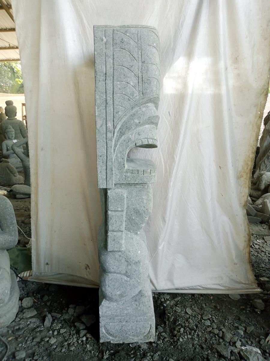 tiki d 39 oc anie statue de jardin en pierre volcanique. Black Bedroom Furniture Sets. Home Design Ideas