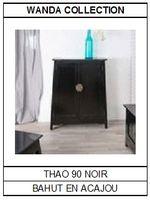Bahut en acajou noir Thao 90