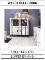 Buffet en mindi blanc Loft 114