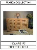 Buffet en teck Square 170