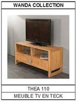 Meuble TV en teck Théa 110