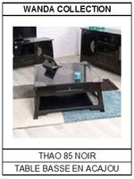Table basse en acajou noir Thao 85