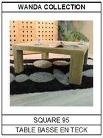Table basse en teck Square 95