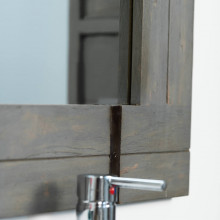 Grand miroir de salle de bain loft 160x80 gris - Grand miroir salle de bain ...