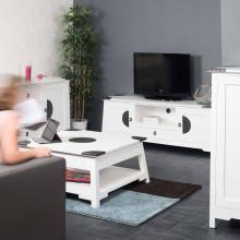 Meuble Tv Bois Acajou : Collection Salon Meuble Tv Meuble En Acajou Tv Thao Blanc 150