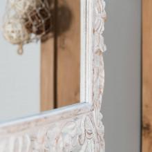 Miroir Bois Blanc : Miroir de d?coration en bois massif : Cordoue, rectangulaire, bois