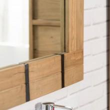 Miroir de salle de bain 160 loft naturel - Salle de bain loft new yorkais ...