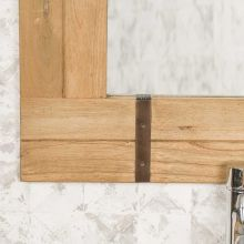 Miroir de salle de bain naturel loft 60x80 naturel - Miroir salle de bain en bois ...