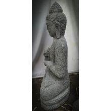 Statue de jardin zen bouddha pierre en chakra 1m - Bouddha jardin zen ...