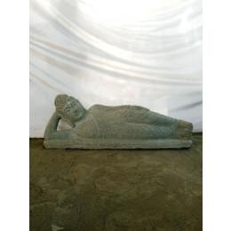 Bouddha allongée statue en pierre naturelle 1 m 20
