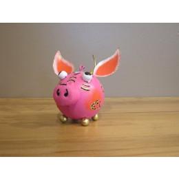 Cochon à suspendre déco ludique 12cm