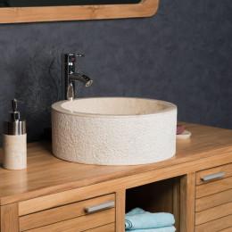 Elba cream marble countertop bathroom sink 40 cm