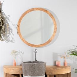 Espejo Ojo de buey 68 cm de teca