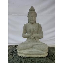 Estatua de Buda sentado de piedra volcánica posición Chakra 80 cm