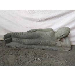 Estatua de Buda tumbado de piedra volcánica zen 1 m