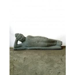 Estatua de Buda tumbado estatua de piedra natural zen 1 m
