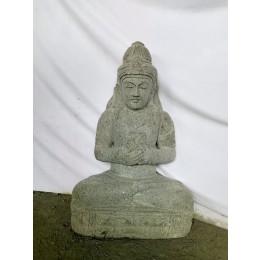 Estatua diosa balinesa Dewi flor de piedra volcánica